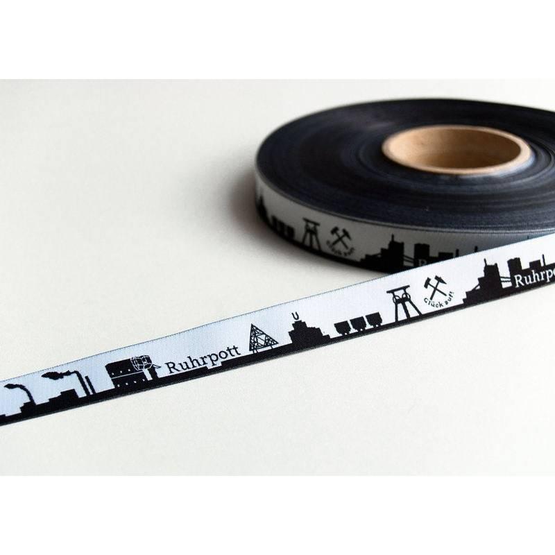 Ruhrpott Skyline Webband schwarz/weiß Bild 1