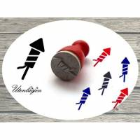 Stempel Rakete, Feuerwerk, Syvester, Stempel mini Bild 1