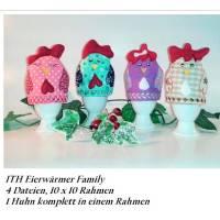 ITH Stickdatei Eierwärmer Family Bild 1
