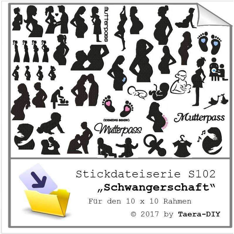 Stickdateiserie Schwangerschaft XXL S103 Bild 1