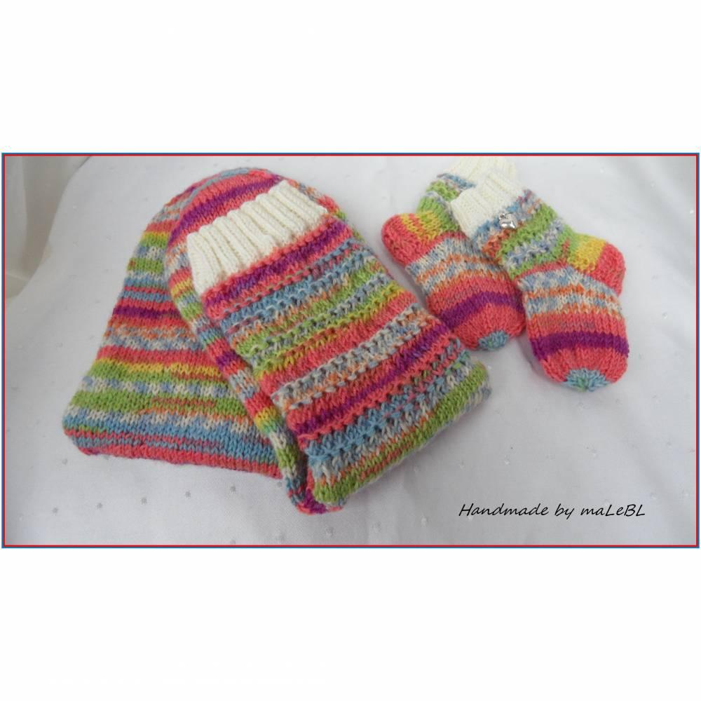 Babysocken mit passenden Mama-Wollsocken - Geschenk zur Geburt Bild 1