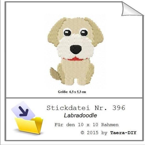 Stickdatei Labradoodle Nr. 396 Hund Füllstich Bild 1