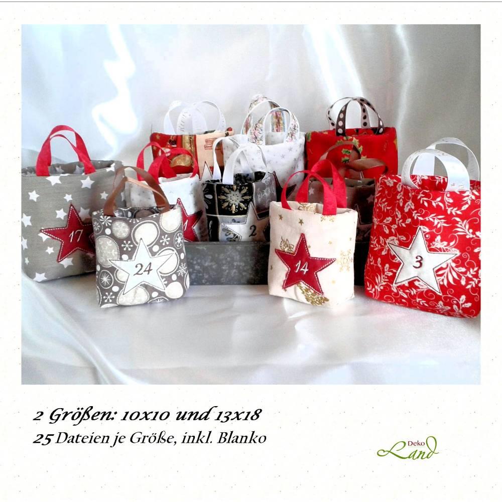ITH Stickdatei Adventskalender Einkaufstasche Bild 1