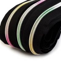 Endlos-Reissverschluss 5mm schwarz Regenbogen inkl. 4 Zipper Reißverschluss-Meterware Bild 1