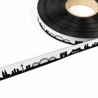 Köln Skyline Webband schwarz/weiß
