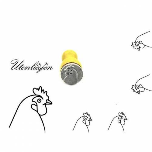 Stempel Huhn, Hühnerkopf, Ministempel Bullet Journal