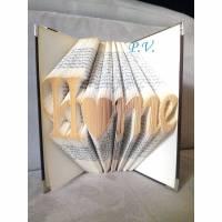 """Schriftzug """"Home"""" - Gefaltetes Buch  Bild 1"""
