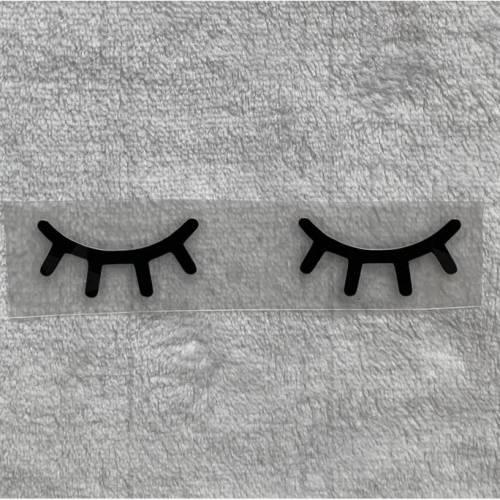 Bügelbild - Wimpern / Augen  - viele mögliche Farben