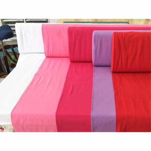 Stoffpaket Jersey uni rosa/rot Mädchen