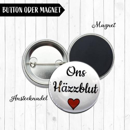 Ons Häzzblut Midi Button oder Magnet