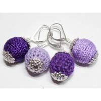 Maschenmarkierer Textil Häkeln / Stricken Lila 4 Stück Bild 1