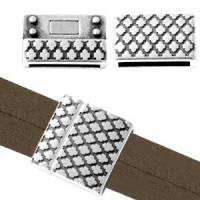 Magnetverschluss Metall DQ im Boho Style Für Band Ø20x2mm antik silber Bild 1
