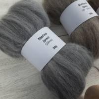 Handspindel-Set mit naturfarbiger Wolle, Anfänger-Set zum Spinnen, Anfängerspindel mit Wolle, Mini-Kammzüge mit Handspindel Bild 2