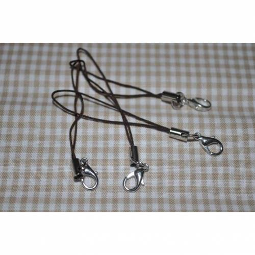 Handyanhänger mit Karabinerhaken dunkelbraun