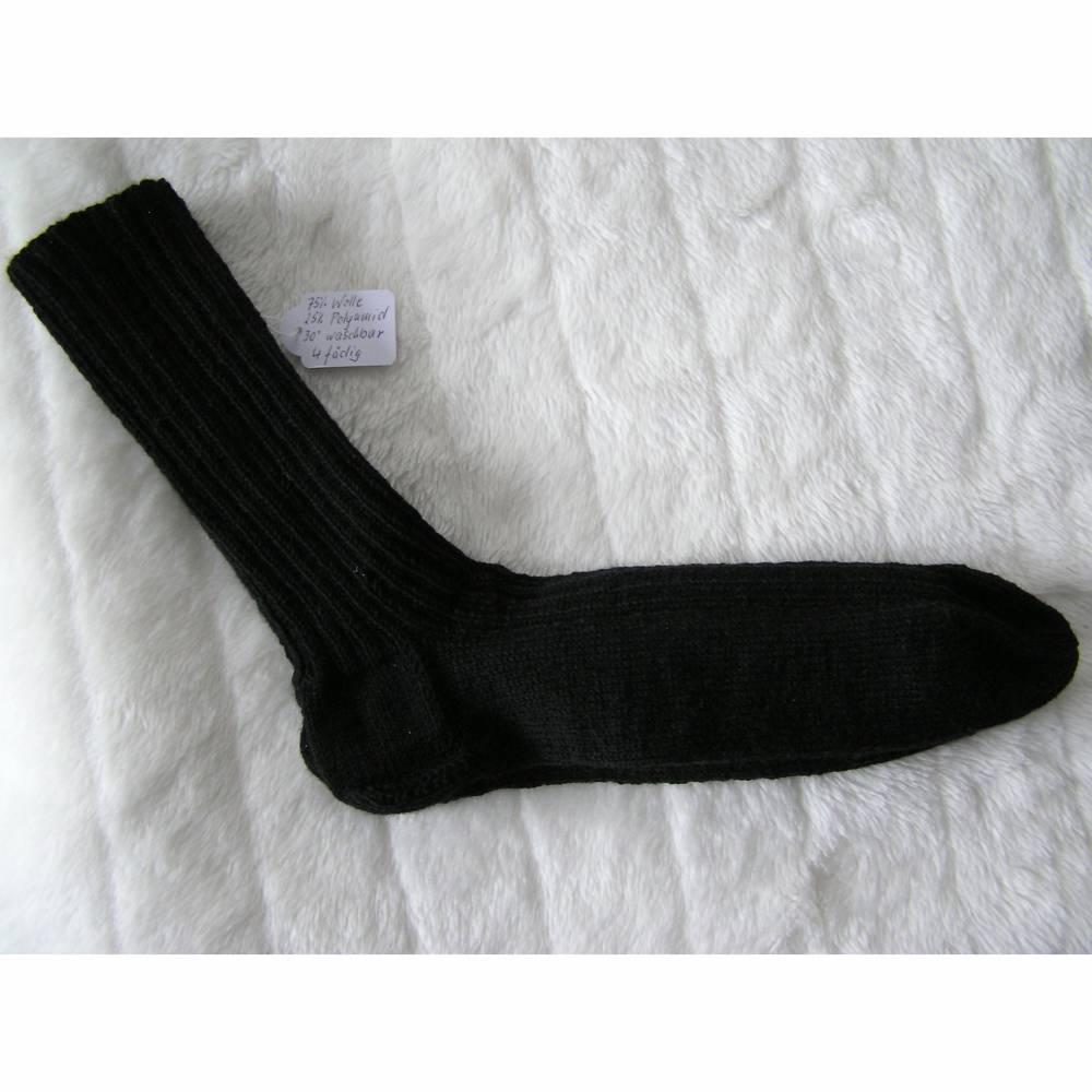 Socken - Gr. 45 - Fb. schwarz - reine Handarbeit Bild 1