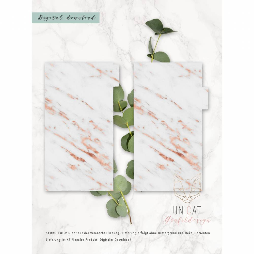 "Divider ""Marmor rosé gold"" dashboard Ringbuchkalender Personal; download;  Bild 1"