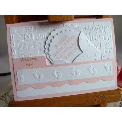 Glückwunschkarte, Geburtskarte zur Geburt/Taufe für ein Mädchen
