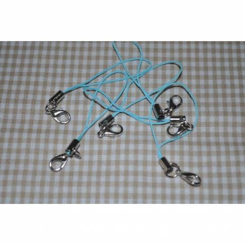 Handyanhänger mit Karabinerhaken hellblau