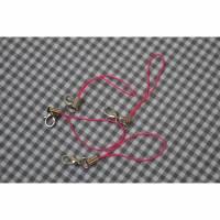 Handyanhänger mit Karabinerhaken pink Bild 1