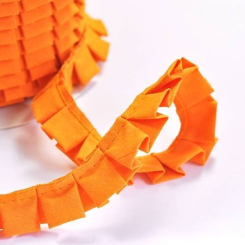 Faltenband Uni Orange
