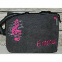 Notentasche/Schultertasche Musiktasche personalisiert bestickt Bild 1