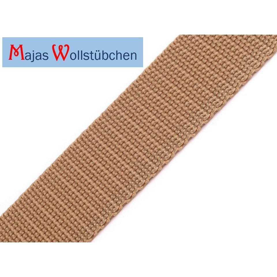 (0,50€/m) Gurtband Polypropylen 1 m naturbeige Bild 1