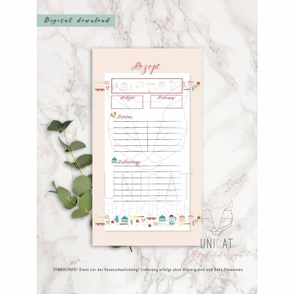 Rezepte für Filofax Personal, Einlagen, download, printable Bild 1