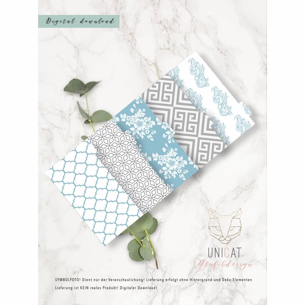 "Divider ""Hamptons Style"", Ringbuchkalender, Personal, download, printable, 5teilig Bild 1"