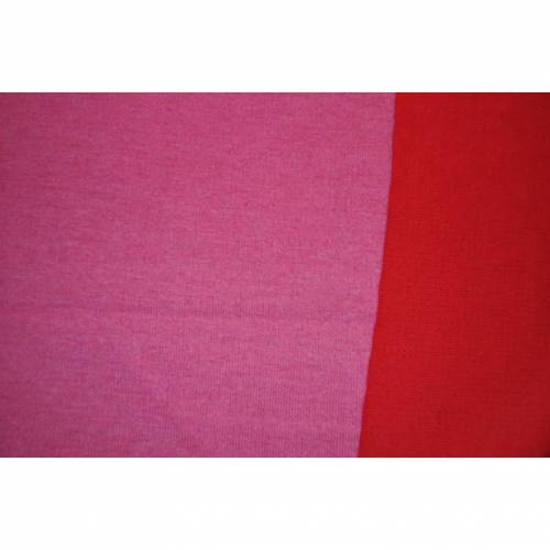 double face wolle strick rosa/rot