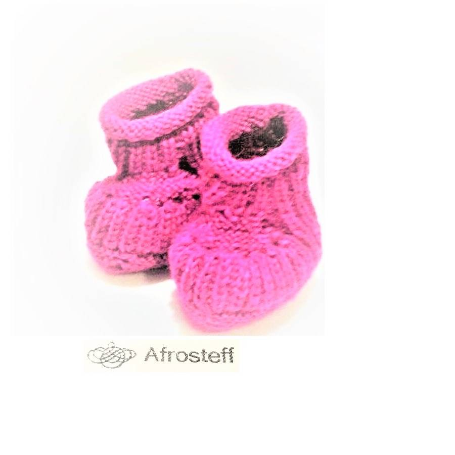 Babysöckchen / Babyschühchen gestrickte Babyschuhe, Wollsocken/ Stricksocken/ Babyschuhe 0-3 Monate  Bild 1