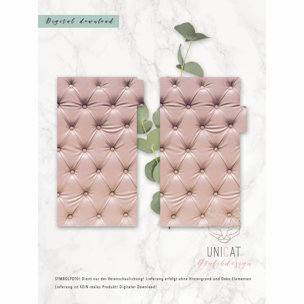"Divider ""Polster"" für Ringbuchkalender Personal; download; printable Bild 1"