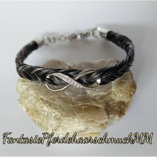 Pferdehaararmband fischgrätenzopf Infinty