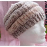 Handgestrickte Mütze aus feinster Schurwolle (Merino extrafine) für Sie und Ihn Bild 1