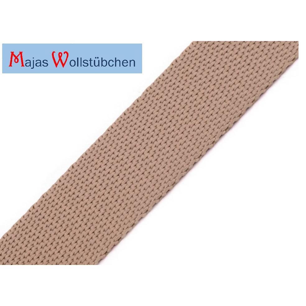 (0,50€/m) Gurtband Polypropylen 1 m beige Bild 1