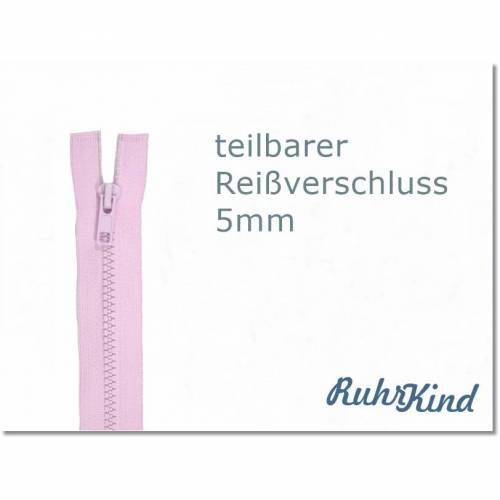 60cm - teilbarer Reißverschluss - Rosa