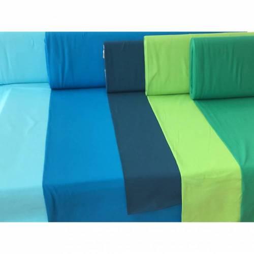Stoffpaket Jersey uni blau/grün Jungen