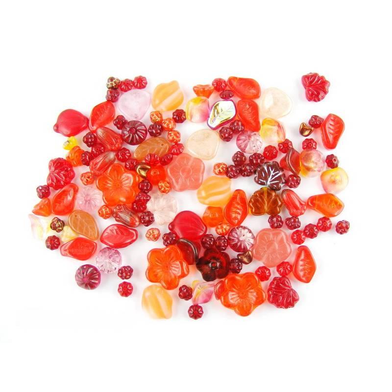 Glasperlenmix -  Blumen und Blätter - Ton in Ton zusammengestellt - Farbauswahl Bild 1