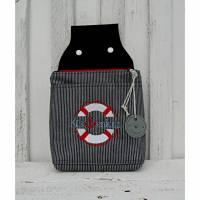 Gürteltasche - Hüfttasche - maritim - Stickerei Bild 1