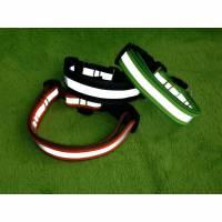 ✿✿Reflektierendes Hundehalsband Grösse XS-XL, unterfüttert,  Farben frei wählbar✿✿ Bild 1