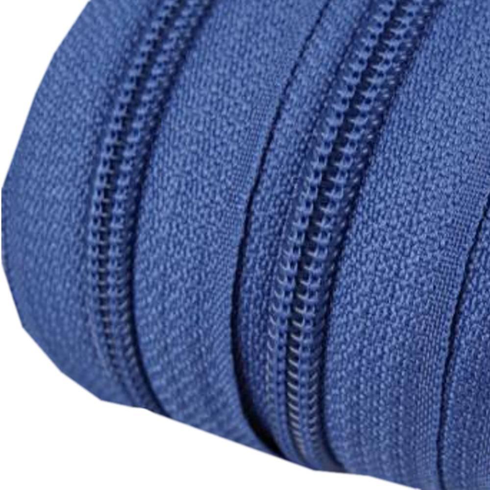 Endlos-Reissverschluss 5mm jeansblau inkl. 4 Zipper Reißverschluss-Meterware Bild 1