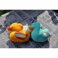 ♥♥✿✿ Kuschelente gross, 2 verschiedene Motive, freie Farbwahl ♥♥✿✿ Bild 1