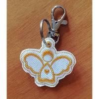 Schlüsselanhänger aus Kunstleder mit Engelmotiv Bild 1