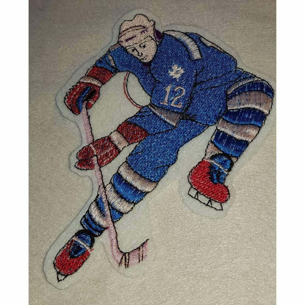 Aufnäher mit Eishockeymotiv  Bild 1