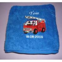Handtuch Motiv Feuerwehrauto Bild 1