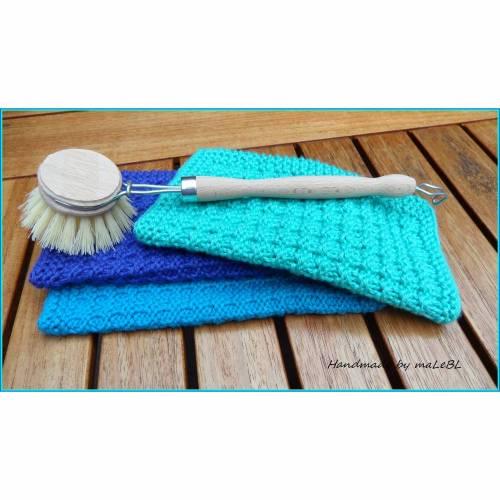 Spültuch - Spüllappen gestrickt aus Baumwolle. 60 Grad waschbar