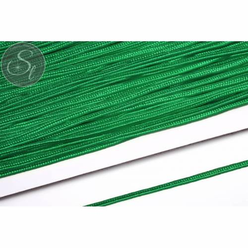 1m blattgrünes Soutache-Band grob 3mm