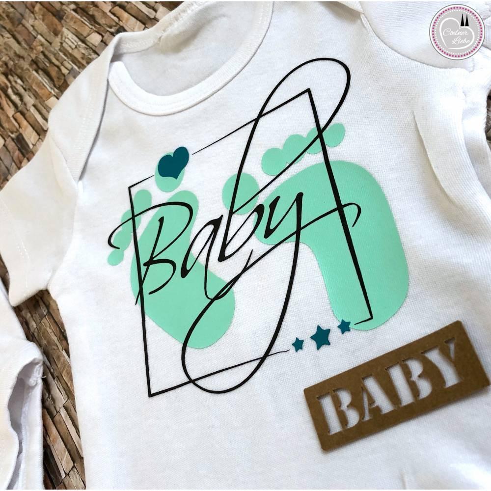 Bügelbild Set Baby, mehrfarbig inklusive Label Bild 1