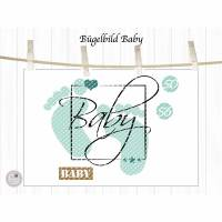 Bügelbild Set Baby, mehrfarbig inklusive Label Bild 2