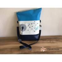 """Handtasche - Umhängetasche """"FoldOver"""" mit Stickerei Pusteblume & Schmetterling Bild 1"""