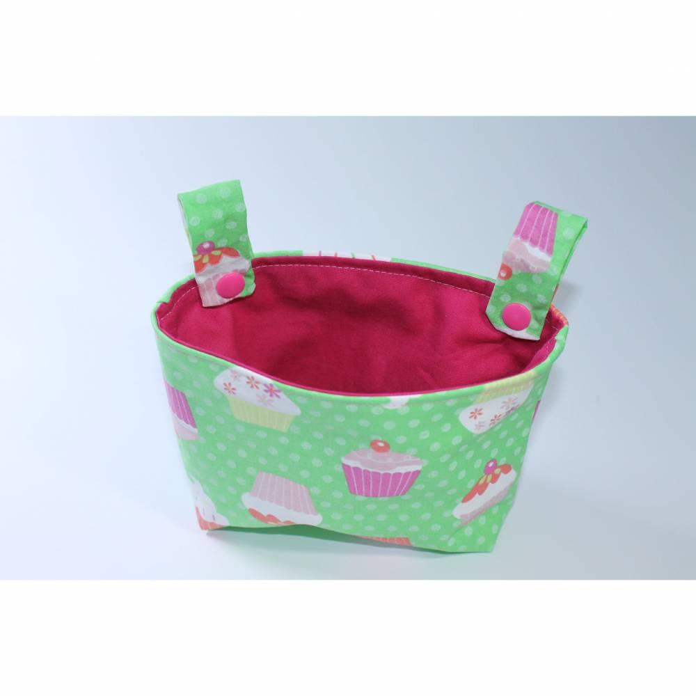 """Lenkertasche für Laufrad oder Kinderrad """"Cupcake grün""""  Bild 1"""